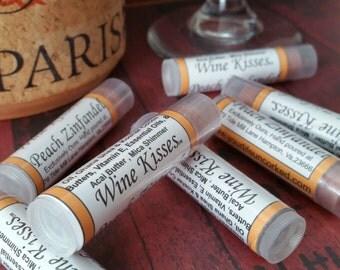 Peach Zinfandel, Wine Lip gloss, Wine Lip Balm, Natural Lip Balm, Wine lip balm, lip shimmer, Wine Lip Butter,Hand poured Lip Balm
