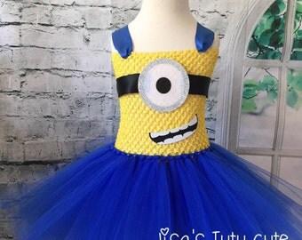 Minion tutu, Minion tutu dress, Minion costume, Minion birthday outfit, Minion Halloween Costume, Monster costume, Monster tutu dress