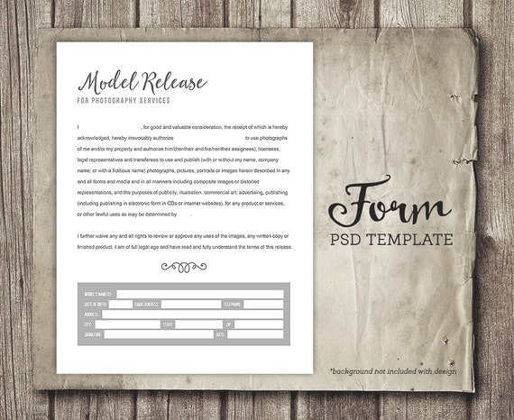 Model Release Form For Photographers - Photography Business Forms