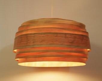 "Lampshade ,Pendant light ,""Light Cloud"" Cherry Veneer, Wood, Veneer lamp"