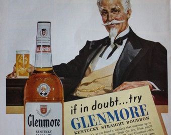 1950's Glenmore Kentucky Straight Bourbon Whiskey ad ETK307