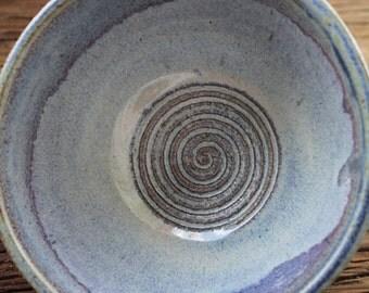 Iridescent Blue Swirly Bowl