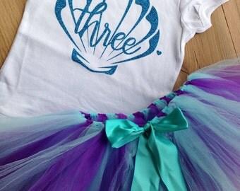 Third Birthday Shirt Mermaid | 3rd Birthday Shirt l Third Birthday Outfit Girl | Toddler Birthday