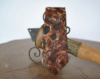 Vintage ADAMANT printed silk necktie , men's silk tie ....(021)