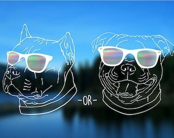 "Pitbull, Fat Head, Pitty, American Pitbull Terrier, Bully, Staffordshire Terrier, Dog Vinyl Decal, Car Decal, Bumper Sticker, 5"" decal"