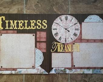 Timeless Treasure Scrapbook Kit **vintage**Bo Bunny**Provence**papers**paper**clock**time*