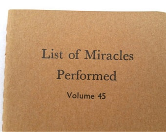 Miracles - Brown Covers - Funny Letterpress Notebooks, Cahiers, Jotters, Mini Journals