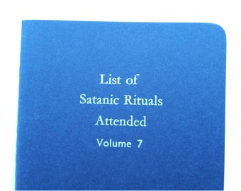 Satanic Rituals - Funny Notebooks, Jotters, Mini Journals, Cahiers - Ruled A6 Pocket Notebooks