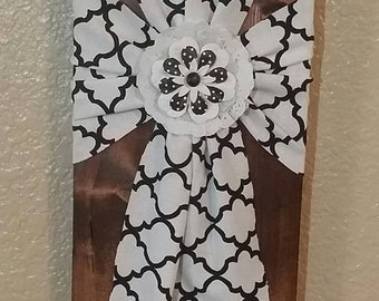 Custom Wood and Fabric Crosses