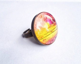 Colour Collab Brass Ring