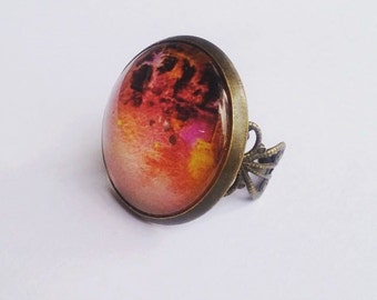 Fireball Brass Ring