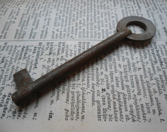 Big old  metal skeleton key,  jewelry supplies, rustic home decor