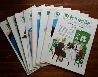 We Do It Together ~ Set of 8 ~ Sunday School ~ 1960 ~ Autumn ~ Winter ~ Religious ~ Teacher ~ Children ~ Kindergarten ~ Preschool ~ Poetry
