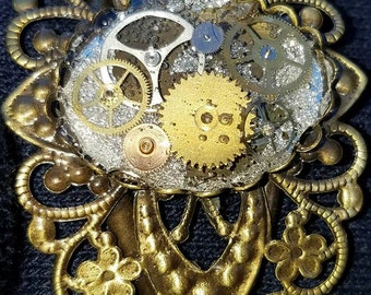 Filigree and Real Watch Parts Bracelet