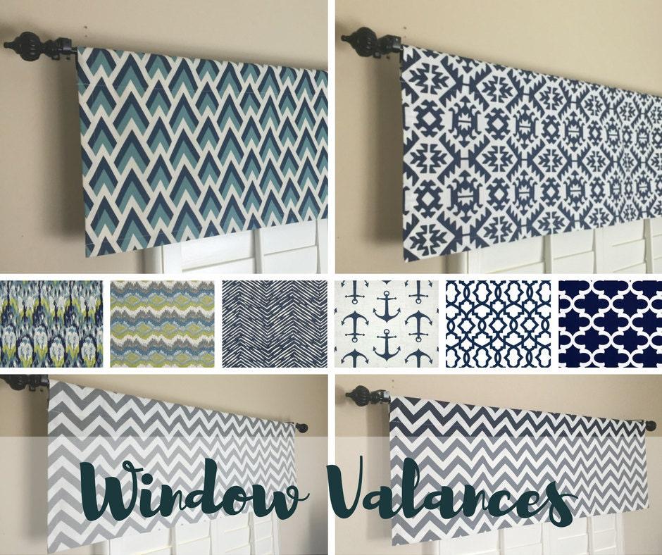 Kitchen Wood Valance: Kitchen Valance Blue Window Valance Kitchen Valance For