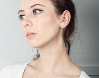 Willow Pearl Drop Earrings