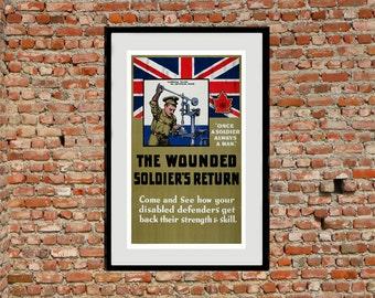 Reprint WW1 Disabled War Veteran Poster