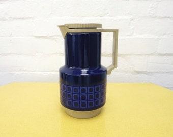 1970s' Silit enamel flask, coffee pot in blue