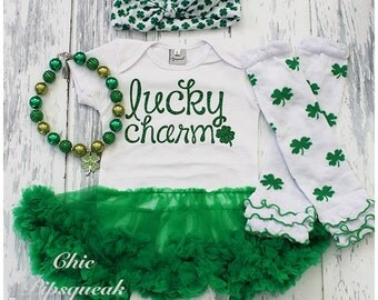 Saint Patrick's Day Baby Outfit, St Patty's Day Baby Outfit, First Saint Patty's Day, First Saint Patrick's Day, St. Patty's Day,Lucky Charm