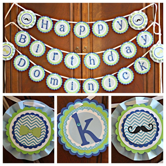 Trolls Happy Birthday Banner We Can Easily Add An: Little Man Birthday/Bowtie Party/Mustache Bash Party