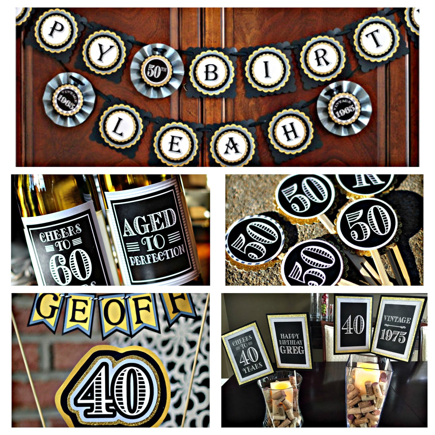 30th 40th 50th 60th birthday party decorations 5 piece for 60th birthday party decoration