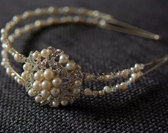 Vintage inspired double bridal headband