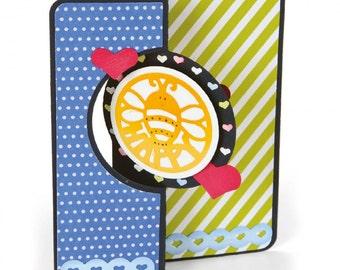 New! Sizzix Framelits Die Set 17PK - Card, Mini Circle Flip-its by Stephanie Barnard 661121