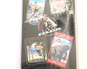 New Sealed Hawaiian Menehune Playing Cards, Hawaii Deck, Plastic Case,  Hawaii Stamps Souvenir, Single Deck, Complete Set, Hibiscus, Tiki