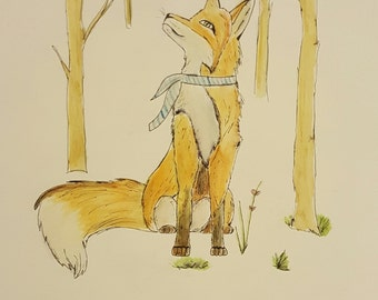 Fox in Forest Original Painting
