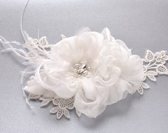 Bridal Flower Hair Clip - Wedding Hair Clip - Bridal Floral Hair Piece - Wedding Hair Flower - Wedding Hair Piece - Bridal Hair Clip