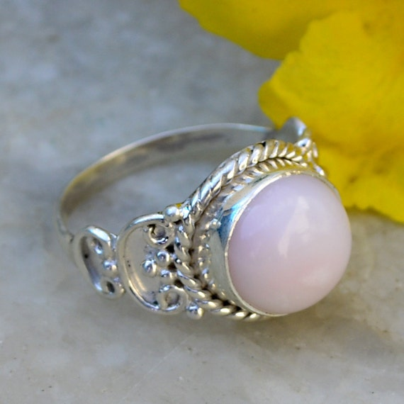 Items Similar To Opal Ring Exquisite Braided Opal: Items Similar To Pink Opal Ring, Silver Stone Opal Ring