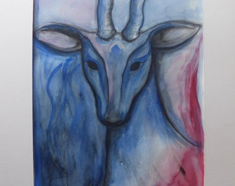 Original water colour painting: Goat