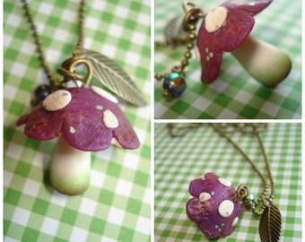 Necklace violet fungus