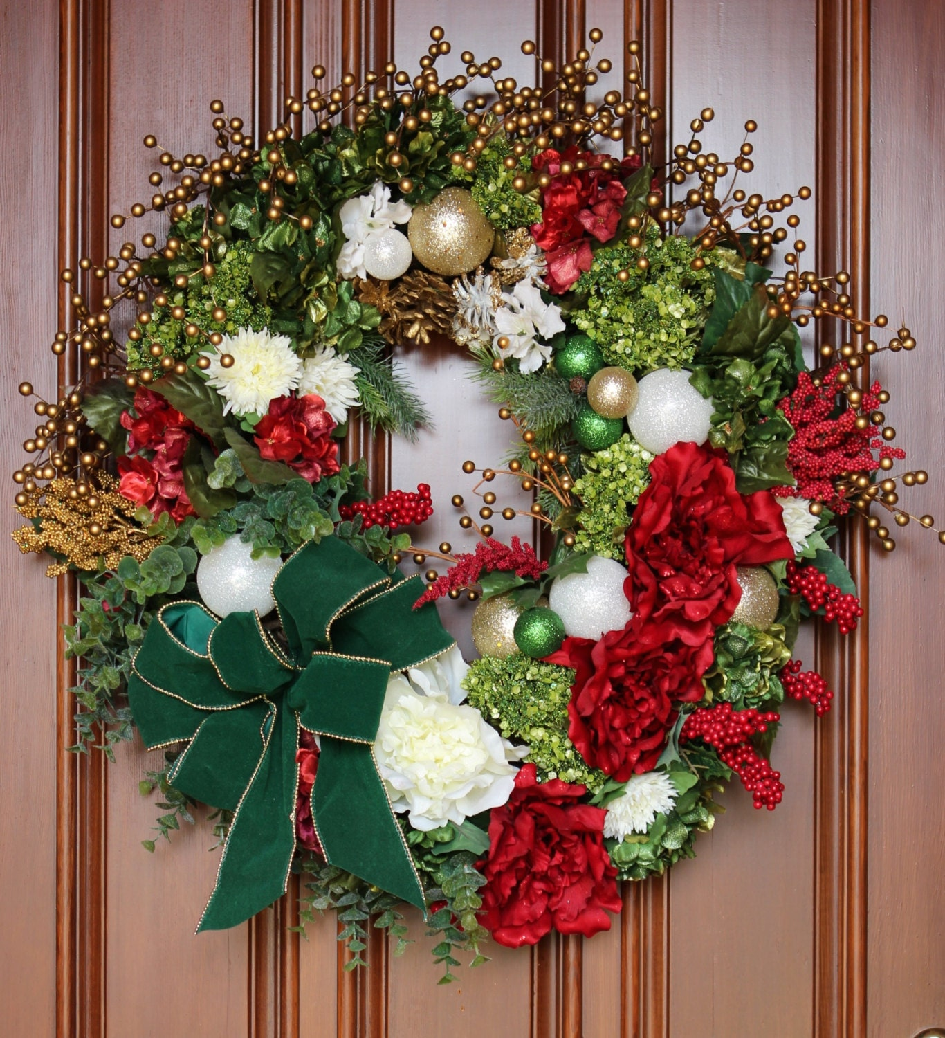 sale holiday wreath holiday front door wreathxl holiday. Black Bedroom Furniture Sets. Home Design Ideas