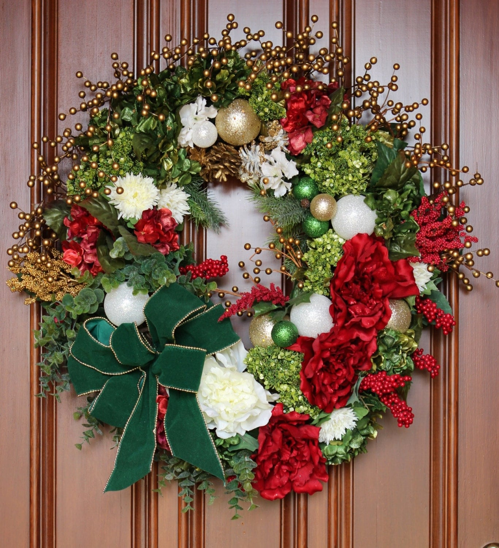 Garland For Front Door: SALE Holiday Wreath Holiday Front Door WreathXL Holiday