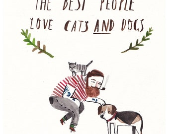 A6 Cats and Dogs Postcard