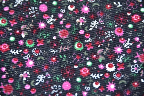 Items similar to vintage pinwale corduroy black pink for Kids corduroy fabric
