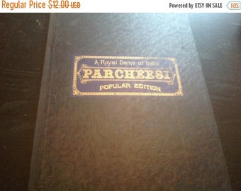 50% Off Summer Sale Vintage 1938 Parcheesi Board, Game Board, Parcheesi Game Board