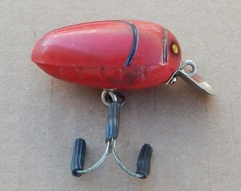 Vintage Millsite Rattle Bug Fishing Lure Red Color