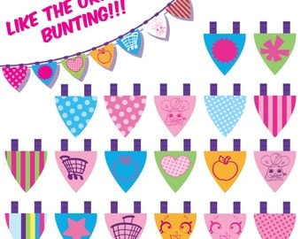 DIGITAL Shopkins Happy Birthday Banner - Shopkins Original Supermarket Bunting  - PRINT yourself - NOT being sent in the post