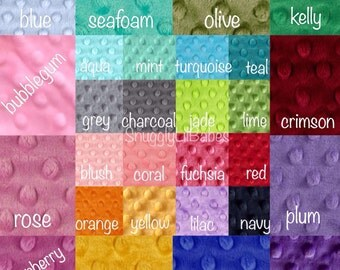 Minky dot changing pad cover AVAIL. in any color