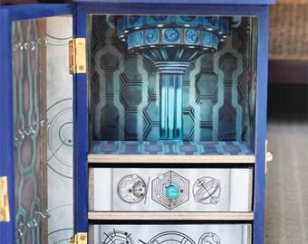 Twelve's TARDIS Wood Jewelry Box