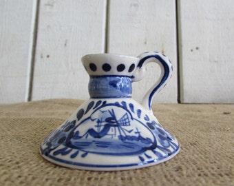 Vintage Mini Delfts Candle Holder, Vintage Delts, Mini Delfts Candle Holder, Candle Holders, Delfts, Vintage Delfts Items, Delfts Candle