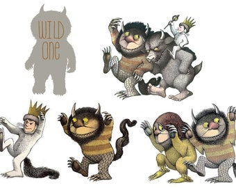 Custom Temporary Tattoos - Kids Favors - Where the Wild Things Are