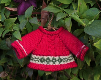 Red Sweater for a Teddy Bear