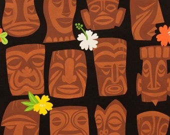 Alexander Henry - Tahiti Tiki-#8363A - BLACK