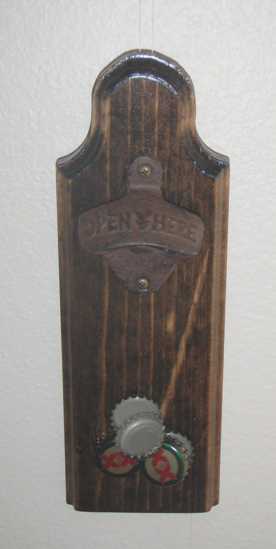bottle opener magnetic cap catcher bar accessory dark. Black Bedroom Furniture Sets. Home Design Ideas