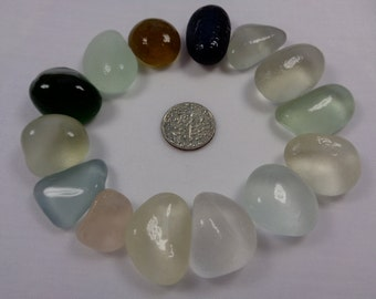 English sea glass - 14  pale and deeper shades