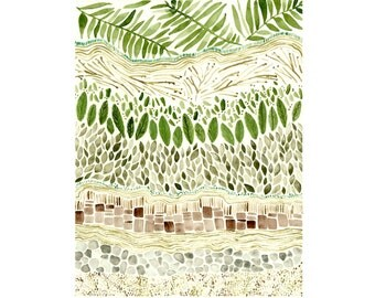 """Slice of Earth nature watercolor print - 5""""x7"""" or 8""""x10"""""""