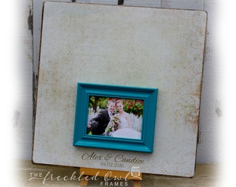 wedding guest book alternative wedding signature frame personalized wedding picture frame guestbook frame guestbook sign 20 x 20 inch